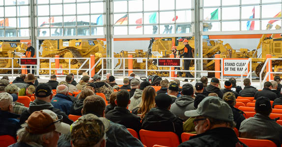 Bidders at Ritchie Bros. Grande Prairie auction.