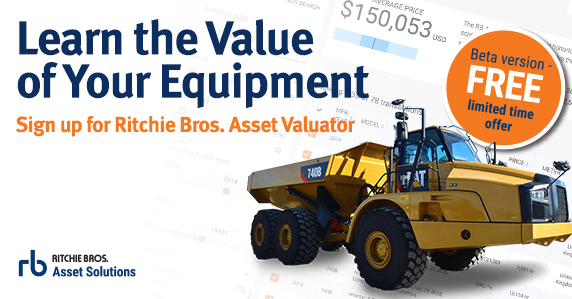 Price Your Equipment with Ritchie Bros. Asset Valuator