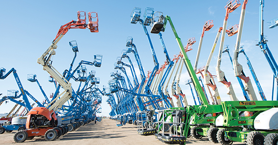Rental equipment for sale at Ritchie Bros.